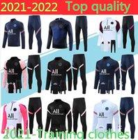 2021 2022 Messi Hoodie Yetişkin Eşofman Tam Fermuar Ceket Survetement 21/22 Chandal Futbol Futbol Eğitim Takım