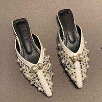 Sandalias para mujer Mocasines de verano Zapatillas de verano señalaron muletas de punta sin espalda Ballet Feminine Flats Lady Casual Zapatos Tacones bajos Toblar En Sandalias Zvyd