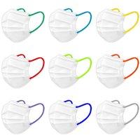 Tasarımcı Yüz Maskesi Klasik Siyah Beyaz Tek Kullanımlık Dokunmayan Maskeler Erkekler Kadınlar Kalın 3 Katmanlı Toz Geçirmez Kapak Anti Toz Sis Facemask Elastik Kulak Sapanlar
