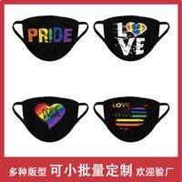 Fashion Designer Masks Flag Gay Rainbow Sunscreen Black Cotton Mask