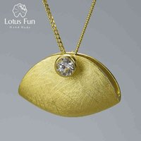 Lotus Fun Real 925 Sterling Silver Natural Zirconia Handmade Fine Jewelry Creative Handbag Design Pendant without Necklace 210507