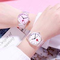 Armbanduhren ins uhr frauen mode lässig transparent richtung armbanduhr uhr reizende obst kinder mädchen quarz damen studenten