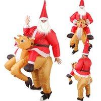 عيد الميلاد سانتا كلوز الأيائل نفخ الملابس الديكور دمية زي يتوهم دور تلعب هالوين حزب الجو النشط ديكور
