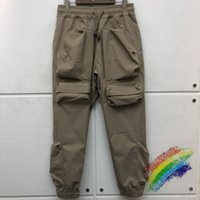 3D bolsillos múltiples pantalones de carga hombres mujeres joggers de alta calidad cordón con cremallera con cremallera pantalones de pista