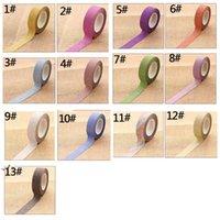 Variopinto flash polvere adesivo nastri fai da te adesivo manuale account decorazione colore solido colore adesivi di carta foto album di foto Dwd10998