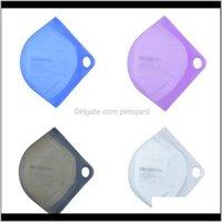 Bins Housekeeping Organization Home & Gardenface Masks Reusable Respirator Sile Storage Round Hole Organizer Boxes Mascarilla Folder Case Por
