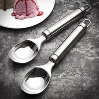 Premium Quality Ice-Cream Tool Kitchen Bar Tools Stainless Steel Ice Cream Scoops Fruit Cookies Round Ball Maker Spoon