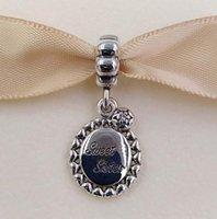Akirajewel 925 Sterling Silber Perlen Süße Schwester Baumeln Charme Fits European Pandora Stil Schmuck Armbänder Halskette 791126CZ