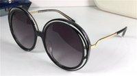 새로운 패션 sunglass 3614s 나선형 패턴 라운드 레트로 프레임 인기있는 디자인 우아한 스타일 보호 장식 안경 최고 품질