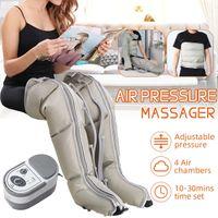 مدلك ضغط 4 غرف الهواء ذراع الساق الخصر صفعة استرخاء الوقت مجموعة لتخفيف العلاج بالألم الدورة الدموية