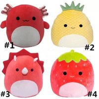 US STOCK Party Favor 25Cm Strawberry Cushion Sofa Pillow Stuffed Fruit Toy Ornaments Plush Toy Birthday Gift