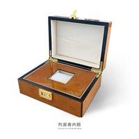 Boîtes de montre Cases 23.5cm * 18cm * 10 cm Boîte de retraite en bois haut de gamme hommes Tourbillon Cadeau Cadeau de luxe Collection de luxe
