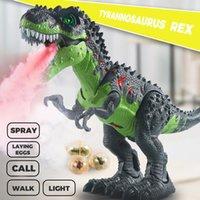 47cm grande spray dinossauro tiranossauro robô modelo dos desenhos animados animais elétricos andando dinossaurio brinquedos educativos crianças brinquedos