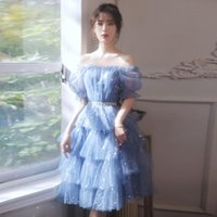 Ethnic Clothing Fairy Ball Gown Dress 2021 Women Sequins Evening Party Sparkly Stylish Celebrity Banquet Elegant Mesh