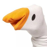 Socks Womens Funny Goose Game Long Crew Sos Untitled Animal Novely Puppets Casual Cotton Breathable Cartoon Hosiery for Gamer Lover