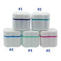 Denture Box Airser Invisalign Ванна с корзиной Стоматологические ложные зубы Ящики для хранения синих / зеленых / розовых цветов