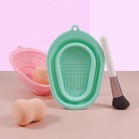Makeup Brushes Silicone Brush Cleaner Pad Foundation Scrubber Board Make Up Washing Gel Cleaning Pool Hand Tool