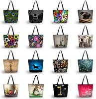 Shopping Bags Fashion Ladies Womens Large Soft Foldable Washable Shoulder School Travel Bag Tote Grocery Packing Recyclable
