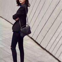 2021 Designer di lusso Borsa a forma di youlou Borse a forma di Y Cuciture Leather Ladies Catena in metallo Borsa a tracolla Catena in metallo Alta qualità Flap Messenger all'ingrosso