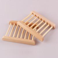 Plato de jabón de madera para estante Baño Baño Juegos Caja Bandeja Placa Contenedor Accesorios 11.5 * 9cm KKB7219