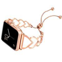 Women Strap for Apple Watch Band 44mm 40mm Iwatch 38 42mm Stainless Steel Belt Smart Link Bracelet Applewatch Series 6 5 4 3 SE