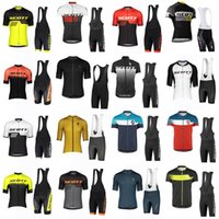 Команда Скотта Велоспорт Короткие рукава Джерси (Bib) Велосипед Шорты MTB Sobycle Ropa Ciclismo Mens Pro Лето Велосипед Майолот Носить 31867