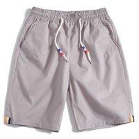 Boodvoice Marque Hommes Shorts Summer Mode Solide Couleur Solide Casual Mâle Shorts Bermudes Masculina Longueur du genou Plus Taille 28-40 droite 210622