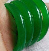 56-60 ملليمتر الطبيعية جولة السبانخ الأخضر اليدوية اليشم سوار