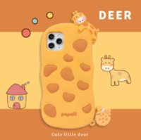 3D Cartoon Cute fawn Soft Silicone Phone Back Case Cover for iphone12 11 Pro X XS MAX XR 7 8 Plus