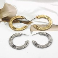 Luxury New texture Cshaped earrings, simple personality, round spiral twist, versatile earrings and Earrings