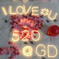 Warme weiße LEDs Romantische Buchstaben LED-Buchstabennummer für Partyhochzeit Letras Luminosas Heimdekoration Zubehör A-Z 0-9 Neuheit Artikel