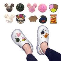 MOQ = 2ELTS Mexique Theme Chaussures Chaussures en gros Jibitz pour Croc Soft Caoutchouc PVC Charm Accessoires Promotionnels Mixte 10 genres