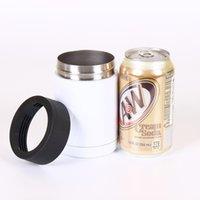 12 oz Süblimasyon İçecek Kısa Kutular Soğutucu Paslanmaz Çelik Tumbler Isullator Çift Duvar Vakum Bira Tutucu Standart 330 ml Cola için soğuk tutabilir