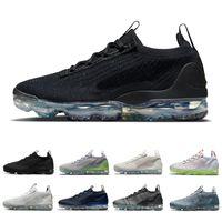 Nike air vapormax 2021 Black Anthracite Mesh 남성 캐주얼 신발 쿠션 트리플 화이트 메탈릭 실버 오트밀 오레오 남성 여성 야외 운동화 스포츠 운동화 워킹 조깅