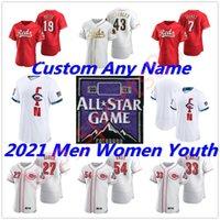 2021 All-Star Game Jersey Cincinnati Aristides Aquino 여성용 레드 유니폼 시즌 Joey Votto Raisel Iglesias Jesse Winker Eugenio Johnny Scott Baseball