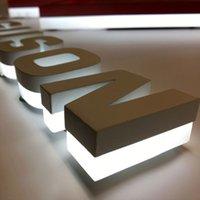 Erhabener Buchstabe mit leichten Alphabet-Zeichenbuchstaben LED-Kanal-Buchstabe Metall Backlit Signage Storefront korrosionsbeständig