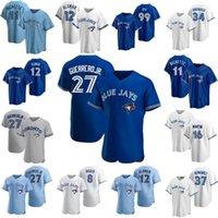 2021 Toronto Blue Jays Jerseys 4 George Springer Custom 27 Vladimir Guerrero Jr. Cavan Biggio Joe Carter Grichuk Hernandez Bo Bichette Alomar Jersey Jersey Porter