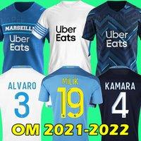 Camiseta de fútbol 21 22 Olympique De Marseille 2021 2022 Camiseta de fútbol OM MILIK CUISANCE BENEDETTO KAMARA THAUVIN PAYET ALVARO soccer jersey