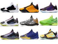 2021 Otantik ZK5 KB5 5 S Bruce Lee Protro Açık Ayakkabı 5x Champ Lakers Mor Altın 2 K20 Kaos Mamba Zoom ZK 5 V Erkek Sneakers KB6 Eğitmenler Orijinal Kutusu ile