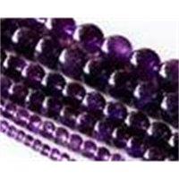 도매 자연 학년 자수정 보라색 크리스탈 라운드 느슨한 돌 구슬 3-18 mm 맞는 쥬얼리 DIY 목걸이 또는 팔찌 15.5 \