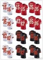 "Herren Womens Youth Kansas ""Stadt"" Chiefs ""15 Patrick Mahomes 87 Travis Kelce 95 Chris Jones 35 Christian Okoye Football Trikots"