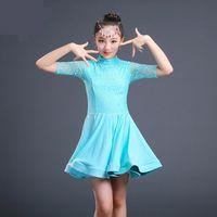 Etapa desgaste Lace Latin Dance Dakle For Girls Costume Child Kids Dancing Girl Dancewear Kid Competition Alta Calidad