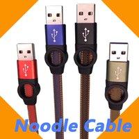 Typ C Micro USB-Kabel 1M 3FT Ferris-Rad gewebt Nylon-Nudeln 2.0A Fast Charger Flat Sync-Nudel-Daten-Hybrid-Farbe für Samsung LG Android Smartphone-Kabel