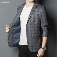 Designer 2021 autumn and winter new high-end custom wool fabric men's casual suit jacket men's suit fashion jacket 0922-01