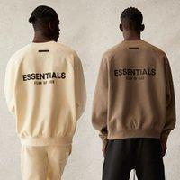 Angst voor God Heren Hoodie Kleding Designer Topkwaliteit Essentiële Sweatshirts Heren en Womens Mist Mode High Street 3M Reflecterende Brieven Dubbele Lijn Plus Fluweel