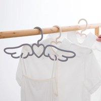 Hangers & Racks 5pcs Lot Angel Wings Shape Clothes Hanger Wardrobe Clothing For Home El Outdoor Baby Coat Drying Rack Scarf Tie Hook