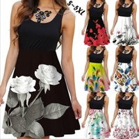 Clothing Dresses Casual2020 new best selling sleeveless round neck women's digital Printed Dress