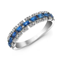 Wedding Rings Blue Color Square Crystal Finger For Women Stackable Match Joker Engagement Ring Jewelry Give Gifts Friends