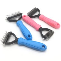 Pet Hair Shedding Comb Hair Removal Comb for Dog Cat Open Knot Knife Brush Tool Dog Flea Combs Fur Shedding Finishing Combs