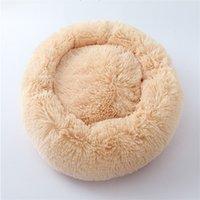 Rodada Soft Long Plush Cat Cama Casa Automando Aquecimento Melhor Cama de Animais Para Pequenos Cães Médios Cats Ninho Inverno Quente Dormindo Cachorro Cachorro Mat 320 R2